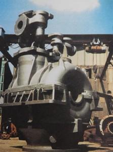 Corps vapeur et soupape de sous-marin nucléaire, fabriqué à Sainte-Suzanne