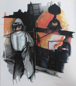 Peinture de Magali Bartheye, réalisée à Sainte-Suzanne
