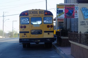 Le petit bus scolaire de Cuauhtémoc