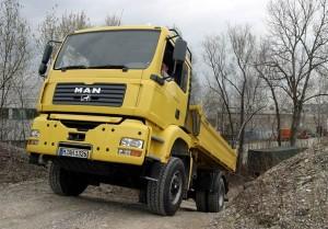 Camion Man motorisé par Poclain Hydraulics en essao