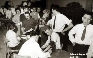 Equipe mobile de donneurs en 1961